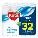 Бумага туалетная Ruta Classic белая двухслойная 32 рулони