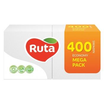 Ruta White Napkins 24x24 1layer 400pcs - buy, prices for CityMarket - photo 1