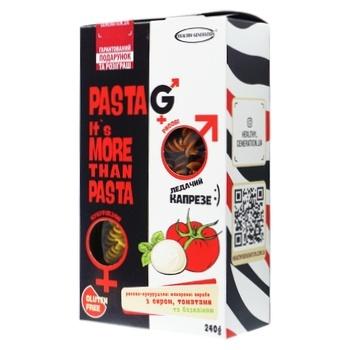 Макаронные изделия Healthy Generation с томатом, сыром и базиликом без глютена 240г