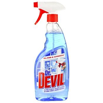Средство Dr.Devil жидкое для чистки окон и стекла с распылителем 0,75л