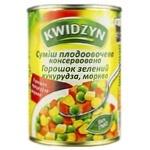 Смесь из горошка, моркови и кукурудзы Kwidzyn 400г