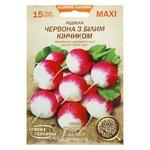 Семена Семена Украины MAXI Редис красный с белыми кончиками 15г