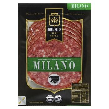 Колбаса Gremio de la carne Милано полукопченая нарезанная в/с 100г - купить, цены на ЕКО Маркет - фото 1