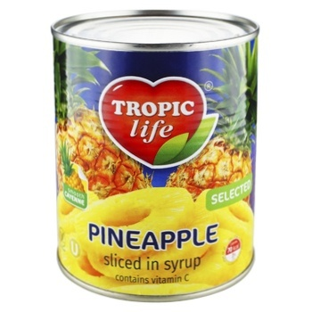 Tropic Life Pineapple Rings in Syrup 580ml