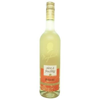Вино Maybach Riesling Suss&Fruchtig белое сладкое 9,5% 0,75л