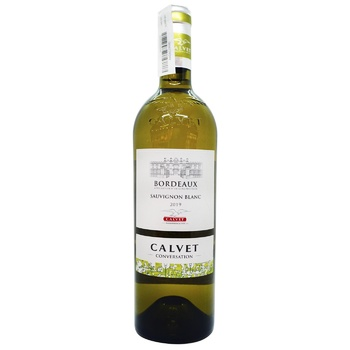 Calvet Bordeaux Semillon-Sauvignon white dry wine 12% 750ml - buy, prices for CityMarket - photo 1