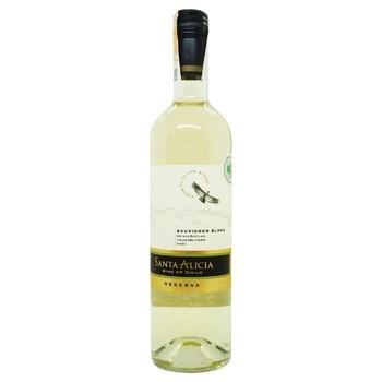 Вино Santa Alicia Reserva Sauvignon Blanc Valle del Maipo біле сухе 12,5% 0,75л - купити, ціни на Novus - фото 1