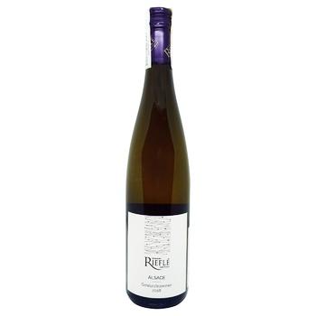 Вино Domaine Riefle Gewurztraminer Vignerons Alsace белое полусухое 13% 0,75л - купить, цены на Novus - фото 1