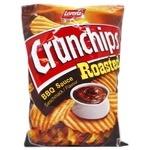 Чипсы картофельные Lorenz Crunchips Roasted Соус  Барбекю волнистые 140г