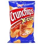 Чипсы картофельные Lorenz Crunchips X-cut Кебаб и лук волнистые 75г