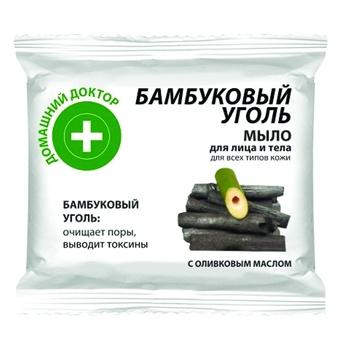Мыло для лица и тела Домашний доктор Бамбуковый уголь 70г