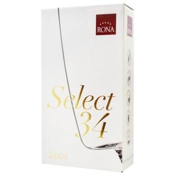 Набор бокалов для шампанского Rona Select 340мл 2шт