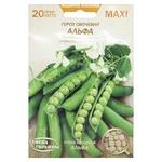 Семена Семена Украины MAXI Горох Овощной Альфа 20г