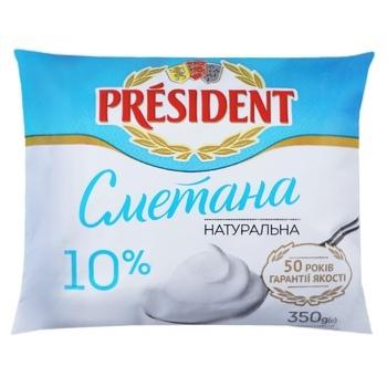 Сметана President 10% 350г - купити, ціни на ЕКО Маркет - фото 1