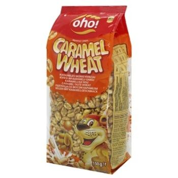 Oho Puffed Wheat Grains with Caramel Flavor Dry Breakfast 150g - buy, prices for Novus - photo 1