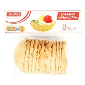 Lekorna Shells Waffle Tartlets 20g
