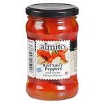 Перець Almito червоний гострий з начинкою з вершкового сиру 320мл