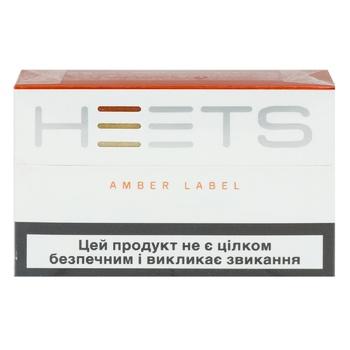 Стіки тютюновмісні Heets Amber Label 0,008г*20шт - купити, ціни на ЕКО Маркет - фото 1