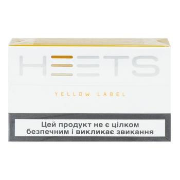 Стіки тютюновмісні Heets Yellow Label 0,008г*20шт - купити, ціни на Ашан - фото 1