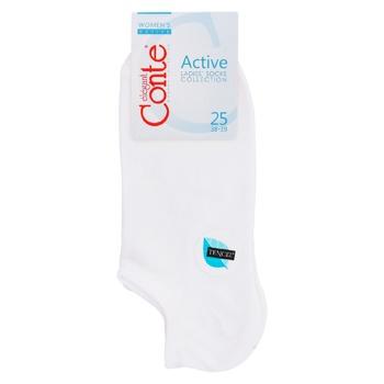 Шкарпетки Conte Elegant Active жіночі віскозні білі 25р - купити, ціни на Восторг - фото 1