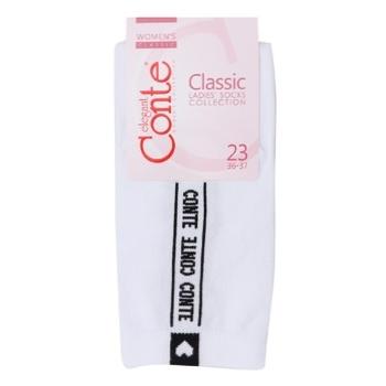 Conte Elegant Classic Cotton White Women's Socks 23s - buy, prices for Novus - photo 1