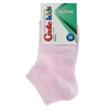 Шкарпетки дитячі Conte Kids Active короткі світло-рожевий розмір 14 - купити, ціни на CітіМаркет - фото 1
