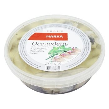 Marka Promo In Oil With Herbs Aroma Herring Fillet Pieces 500g - buy, prices for Novus - photo 1