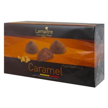 Конфеты Lemaitre Truffes шоколадные трюфели с карамельной начинкой 175г