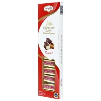 Конфеты марципановые Erasmi Classic в шоколадной глазури 125г