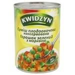 Суміш з горошка і моркви Kwidzyn 400г