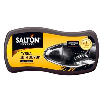 Губка для взуття із гладкої шкіри Salton чорна