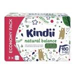 Салфетки влажные Kindi Natural Balance для детей 3х60шт