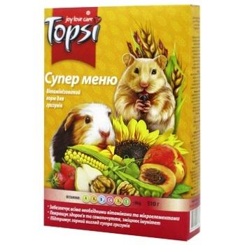 Корм Topsi для гризунів Супер меню 575г - купити, ціни на Novus - фото 1