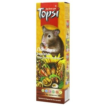 Topsi Nut Sticks for Rodents 100g - buy, prices for Auchan - photo 1