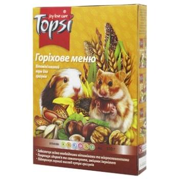 Корм Topsi Горіхове меню для гризунів 510г - купити, ціни на МегаМаркет - фото 1