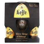 Leffe Blonde Beer 0,75l + Leffe Brune 0,75l + glass 0,33l