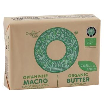 Organic Milk Creamy-Sweet Butter 74,5% 200g - buy, prices for CityMarket - photo 1