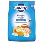Каша детская Карапуз рисовая молочная с тыквой сухая быстрорастворимая с 4 месяцев 250г