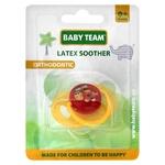 Пустышка Baby Team латексная ортодонтическая 3200