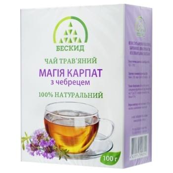 Чай травяной Бескид Магия Карпат с тимьяном 100г - купить, цены на Novus - фото 1