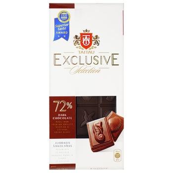 Meskenas Tai Tau Exclusive Dark Chocolate 72% 100g - buy, prices for Novus - photo 1