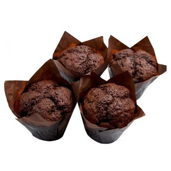 Мафин шоколадниый с вишней 80г