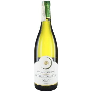 Вино Brocard Chablis Grand Cru Les Blanchots беле сухое 13% 0,75л