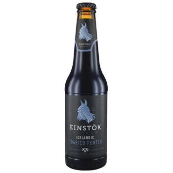 Пиво Einstok Olgerd Icelandic Toasted Porter темное нефильтрованное 6% 0,33л