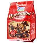 Вафли-кубики Loacker Quadratini Napolitaner с ореховой начинкой 250г