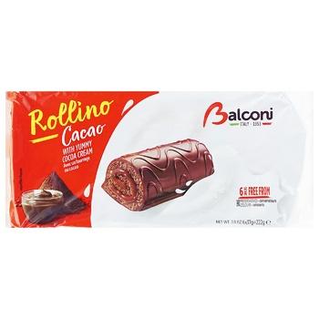 Мини рулеты Balconi с какао 6х37г - купить, цены на Восторг - фото 1