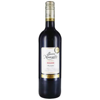 Bonne Nouvelle Non-Alcoholic Red Semi-Sweet Wine Drink 0,75l