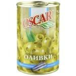 Оливки Oscar фаршировані анчоусами 300мл