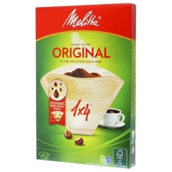 Melitta® Original Paper Coffee Filters 1x4 40pcs - buy, prices for Novus - photo 2