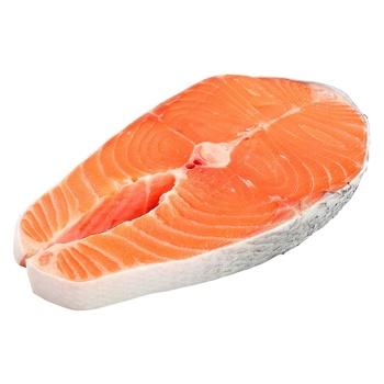 Стейк из лосося чищенной охлажденный